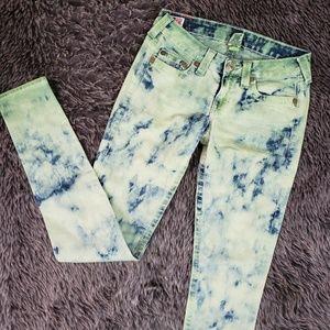 True Religion STELLA Skinny Jeans Tie Dye